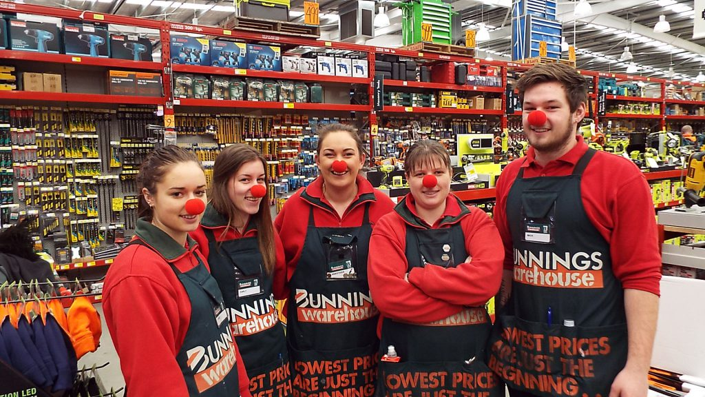 Bunnings Palmerston North with their noses on!