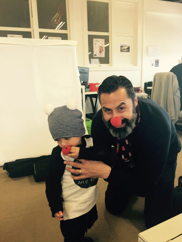 Brendon and Amarni ready for Red Nose Day
