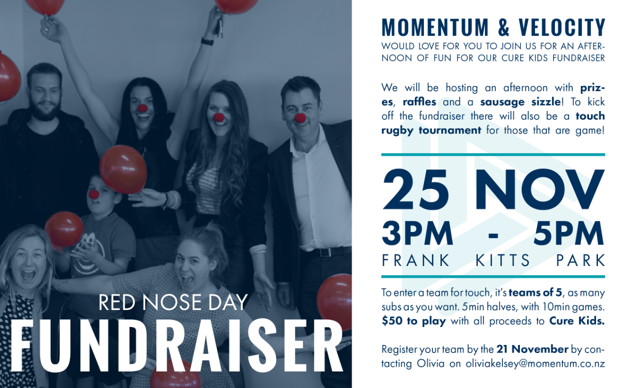 Momentum and Velocity Support Red Nose Day
